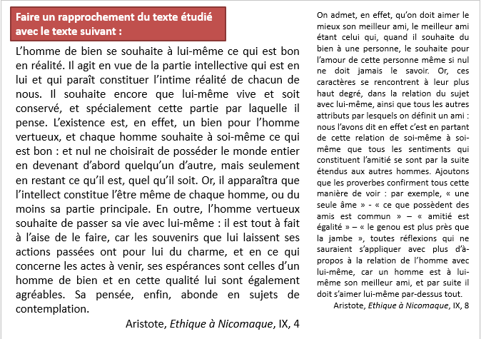 exercice textes d'Aristote